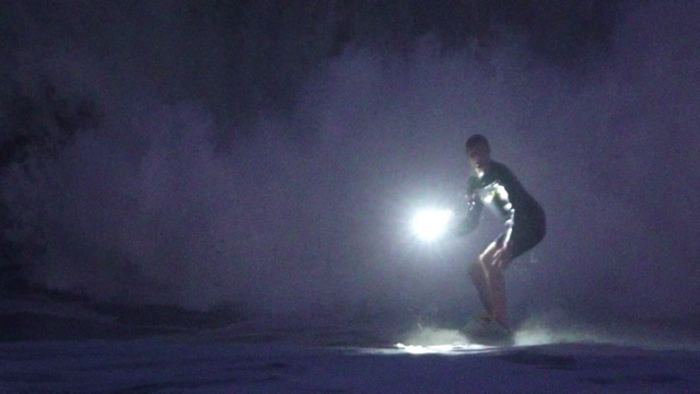 Jamie O'Brien Shreds Massive Puerto Escondido in the DARK with Lume Cubes