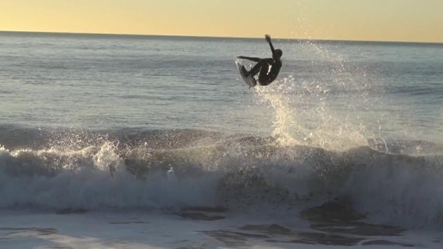 Sean Woods surfing 2017