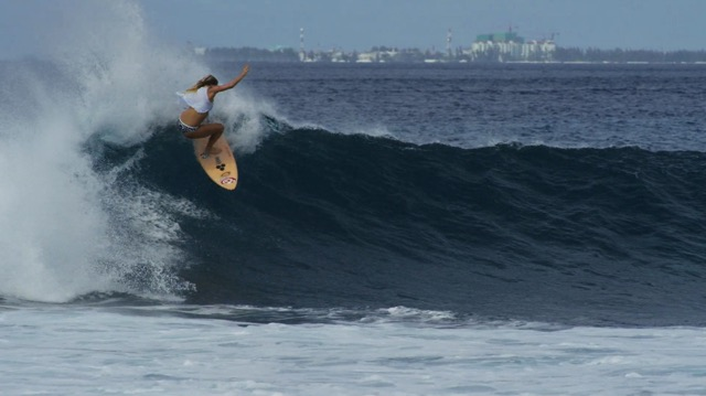 Bethany Hamilton at Pasta Point, Maldives