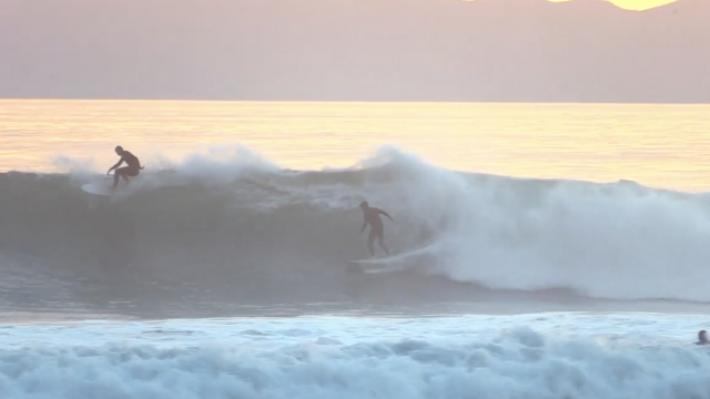 Glassy Sunset Barrels Raw | California Surfing