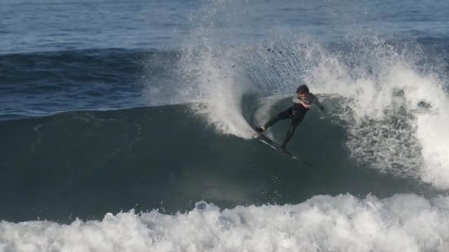 Surfing Zarautz 12-1-2020