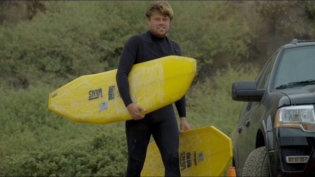 Watch Dane Reynolds Surf the Strangest Boards You've Ever Seen