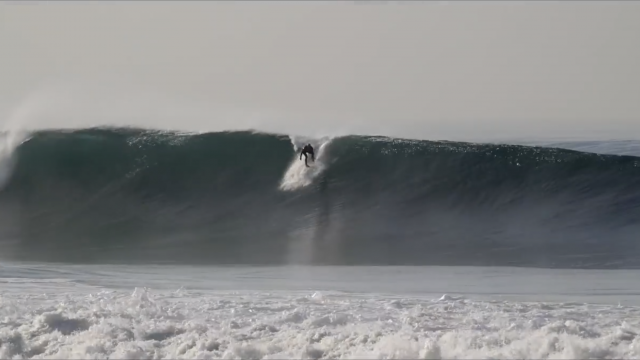 Swell Stories: Huge Surf Hits Los Angeles.  Civic Couch