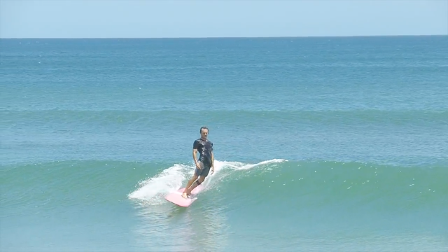 1 minute single fin slide by Grant Beck