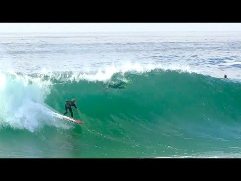 First time surfing The Wedge - Harry Bryant