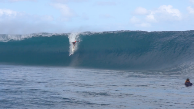 Surfing Big Teahupo'o When You Should Be Studying With Kauli Vaast