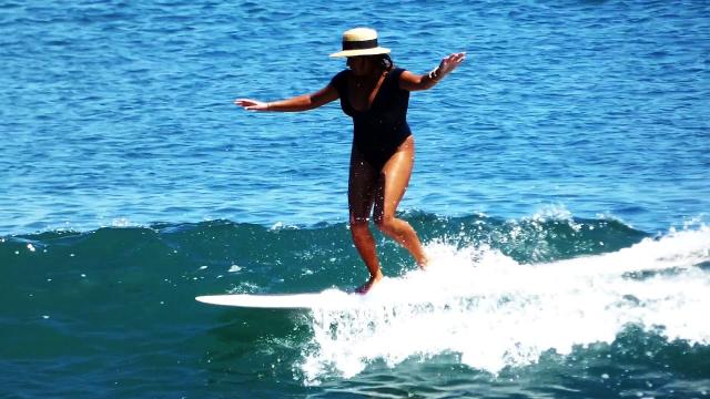 AVALON GALL ::  SURFING MALIBU - FULL MOON SURF CLUB