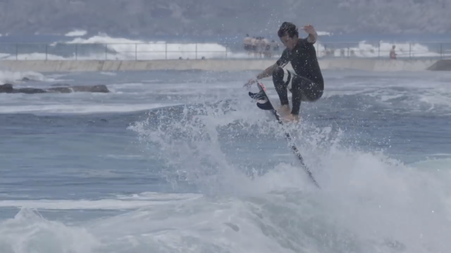 Julian Wilson going big on the Black Baron twin
