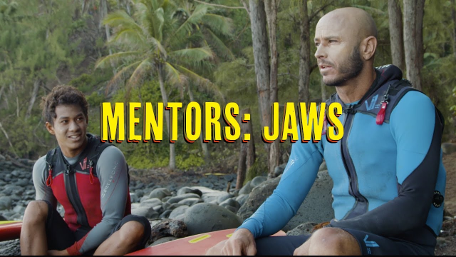 MENTORS : SHANE DORIAN & SETH MONIZ - SURFING BIG WAVES AT JAWS FOR THE FIRST TIME