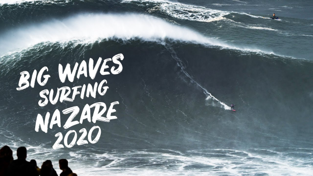Big Waves SURFING ???‍♂️ NAZARE ??  2020 Justine Dupont