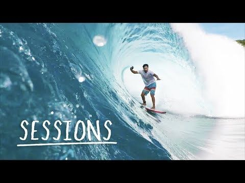 (POV) Shooting the curl in Indonesia.   Sessions w/ Mikala Jones